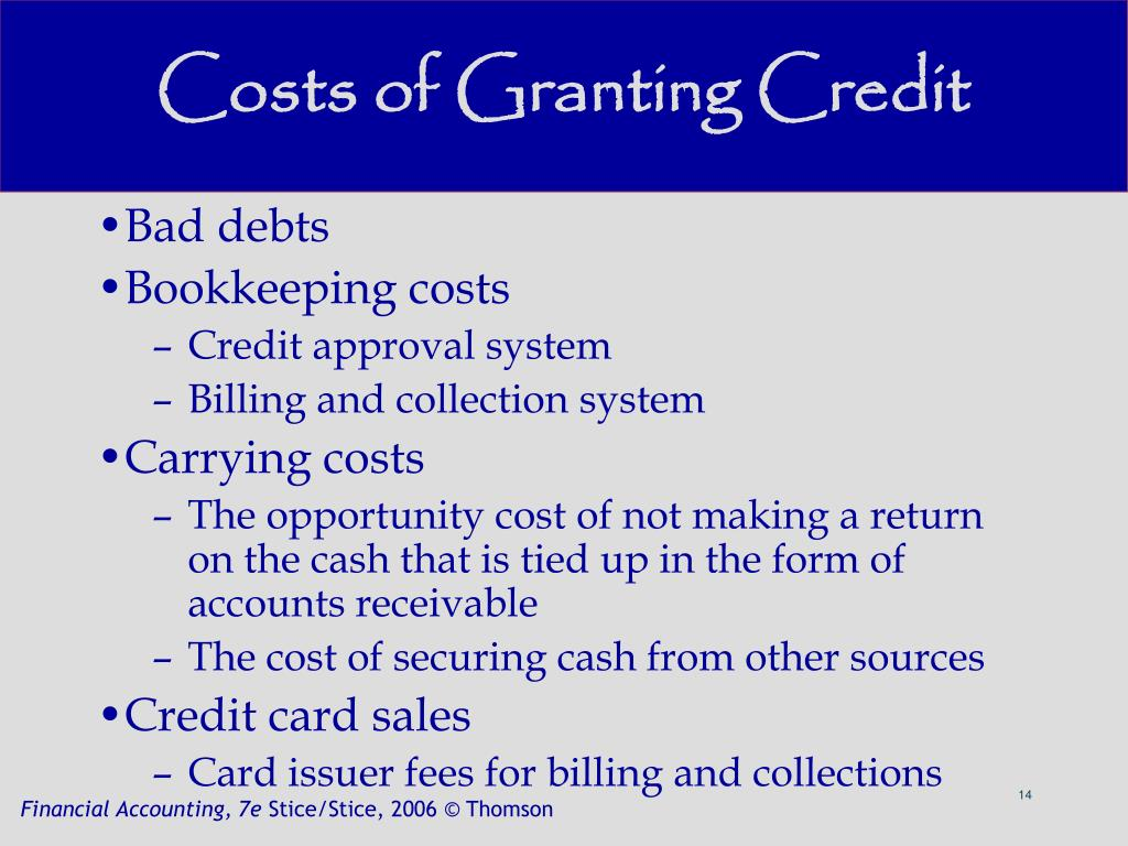 Costs of Granting Credit