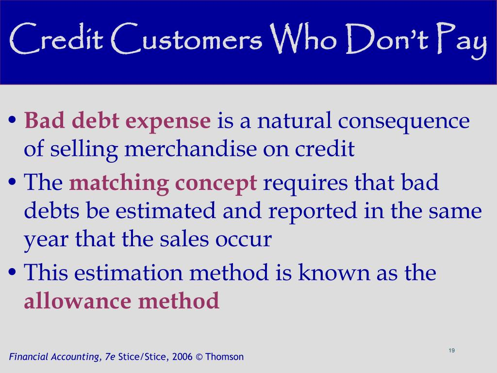 Credit Customers Who Don't Pay