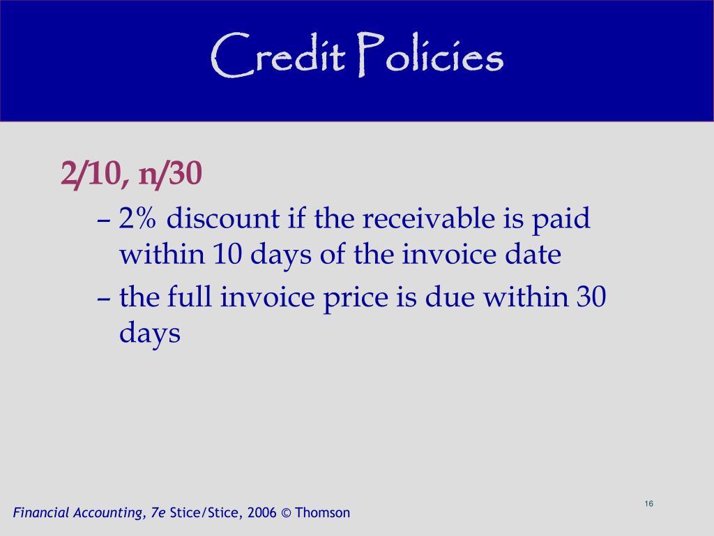 Credit Policies