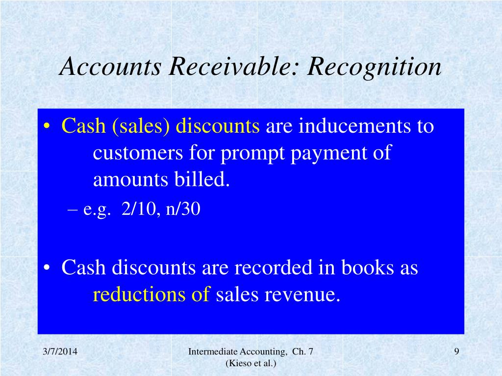 Accounts Receivable: Recognition