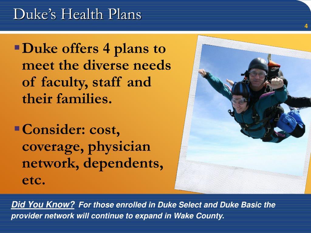 Duke's Health Plans