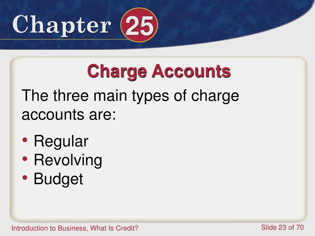 Charge Accounts