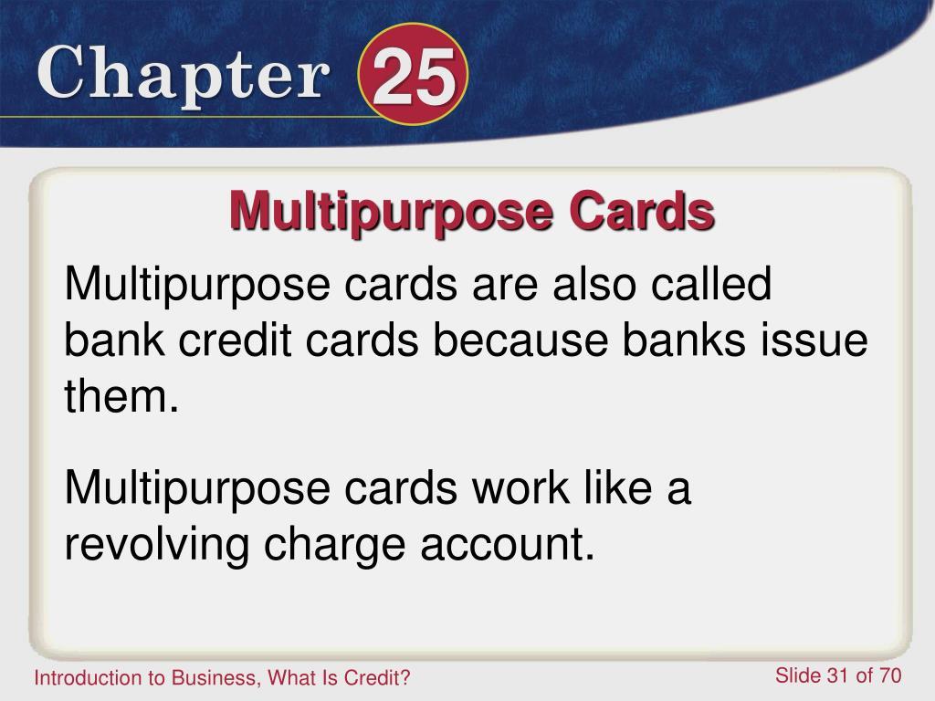 Multipurpose Cards