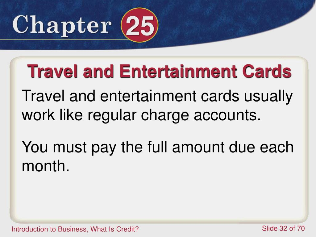 Travel and Entertainment Cards