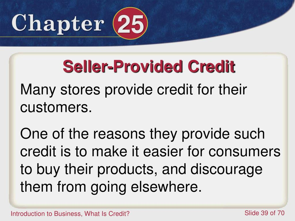 Seller-Provided Credit