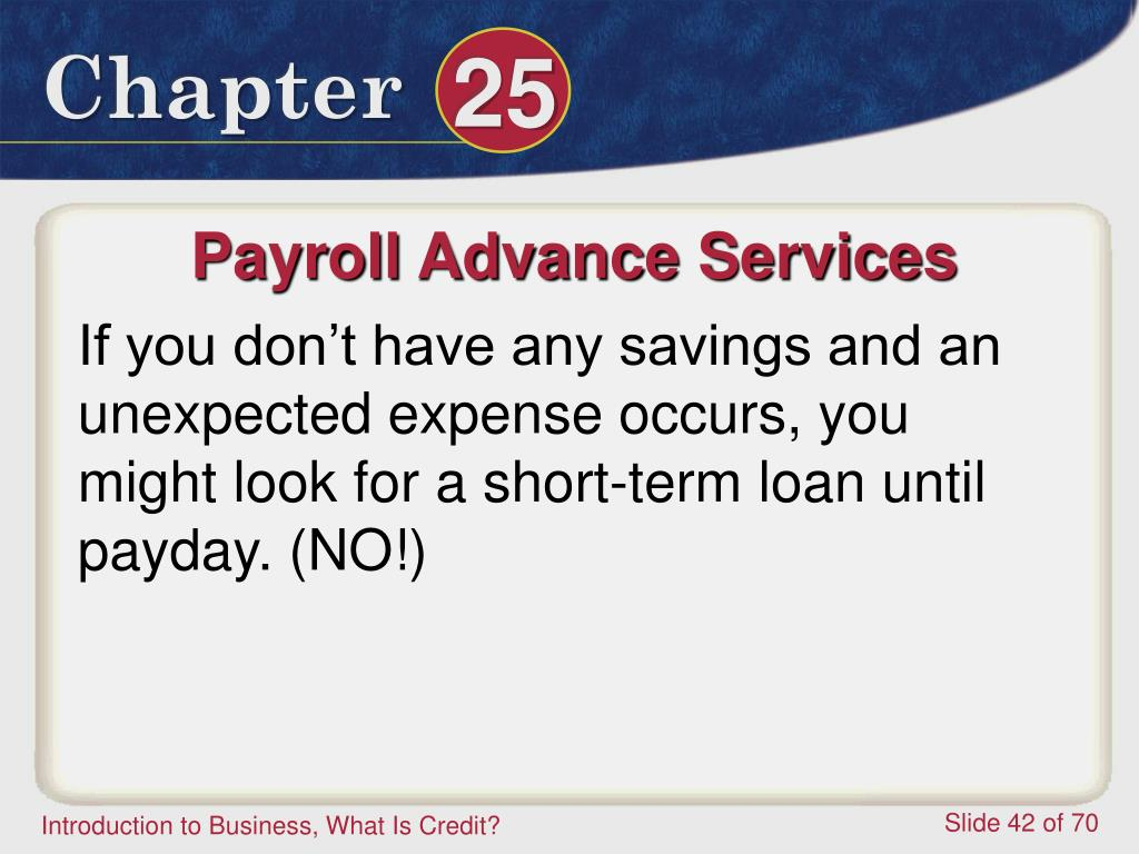 Payroll Advance Services