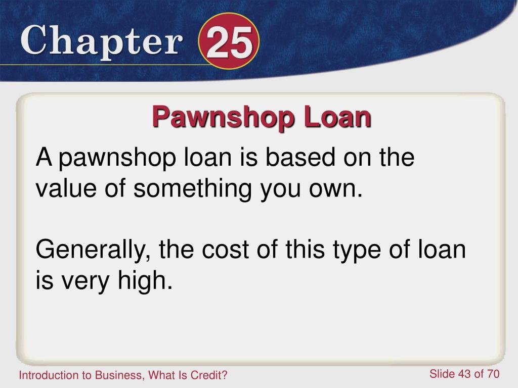 Pawnshop Loan