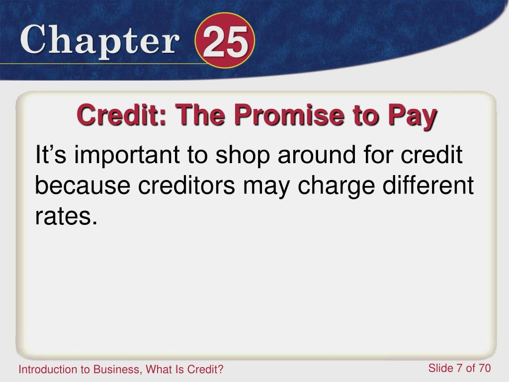 Credit: The Promise to Pay
