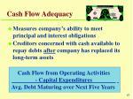 cash flow adequacy