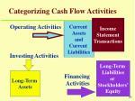 categorizing cash flow activities