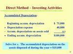 direct method investing activities