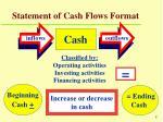 statement of cash flows format