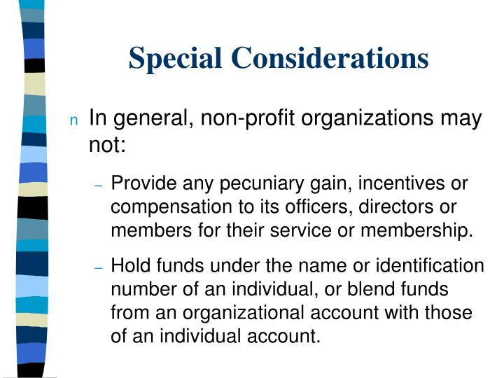 Special considerations3