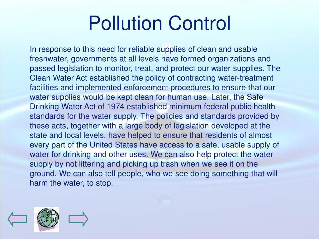Pollution Control