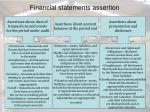 financial statements assertion