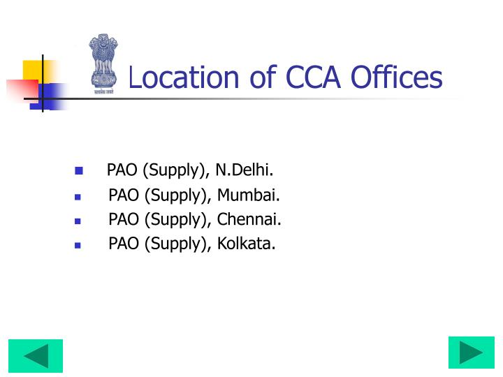 Location of cca offices