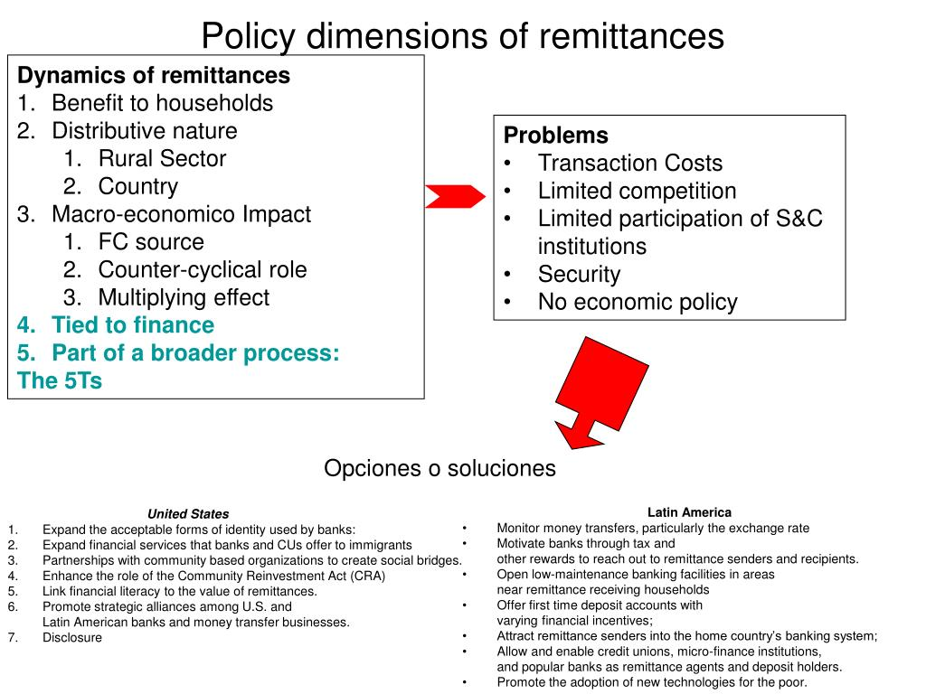 Policy dimensions of remittances