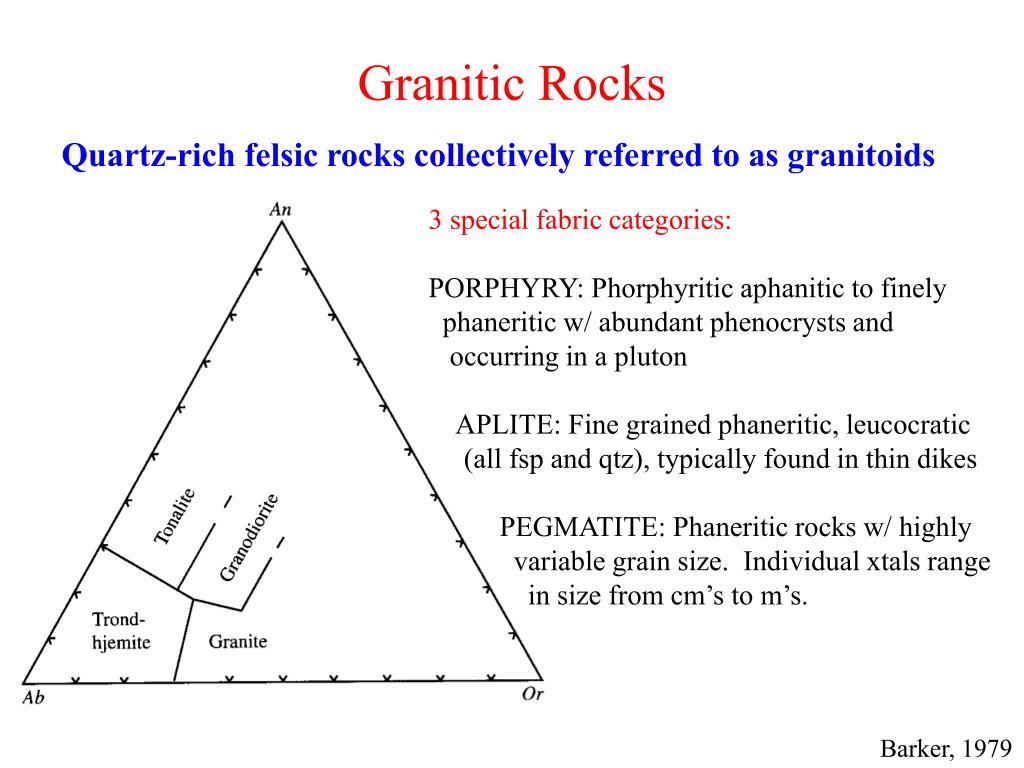 Granitic Rocks