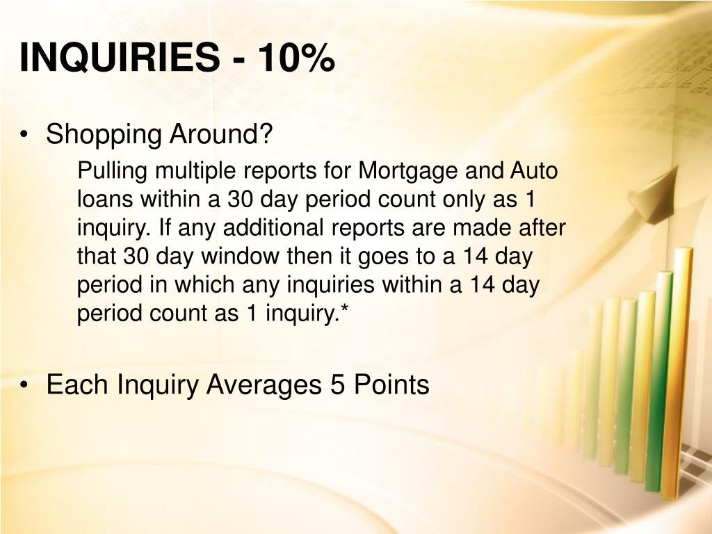 INQUIRIES- 10%