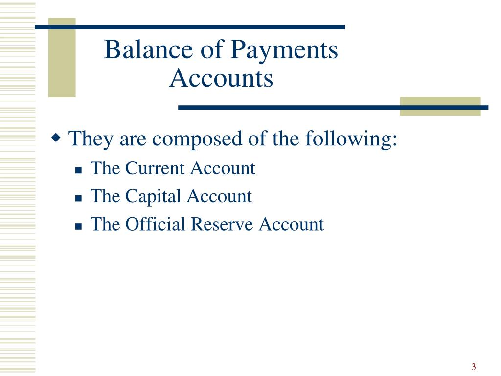 Problems of a current account deficit