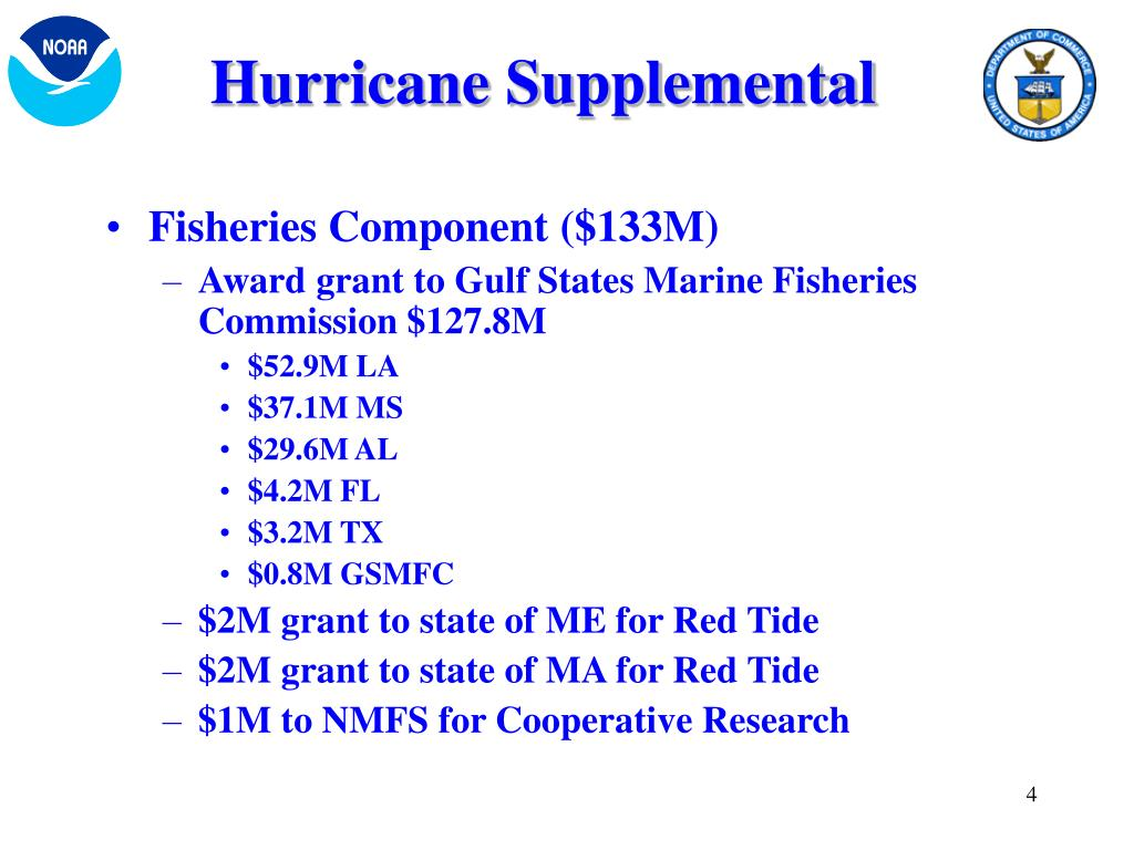 Hurricane Supplemental