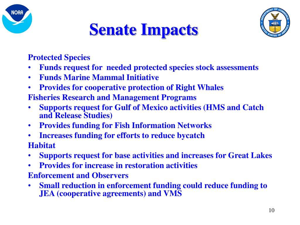Senate Impacts