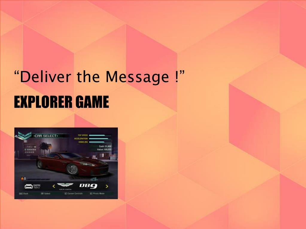 """Deliver the Message !"""