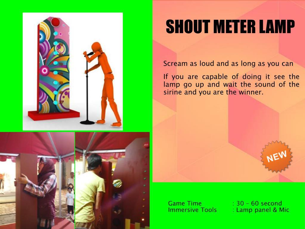 SHOUT METER LAMP