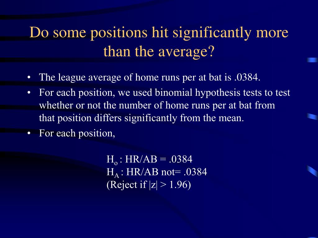 Do some positions hit significantly more than the average?