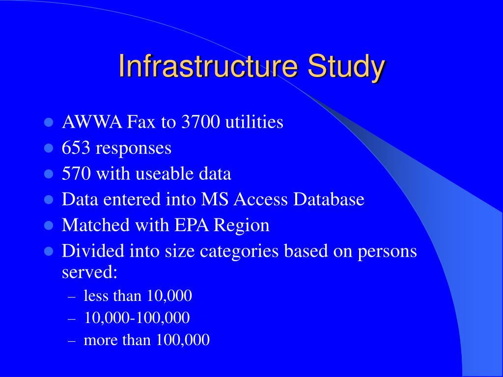 Infrastructure Study