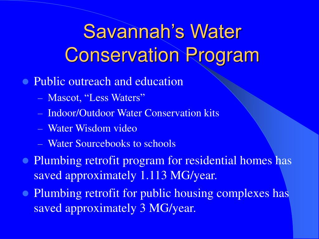 Savannah's Water Conservation Program