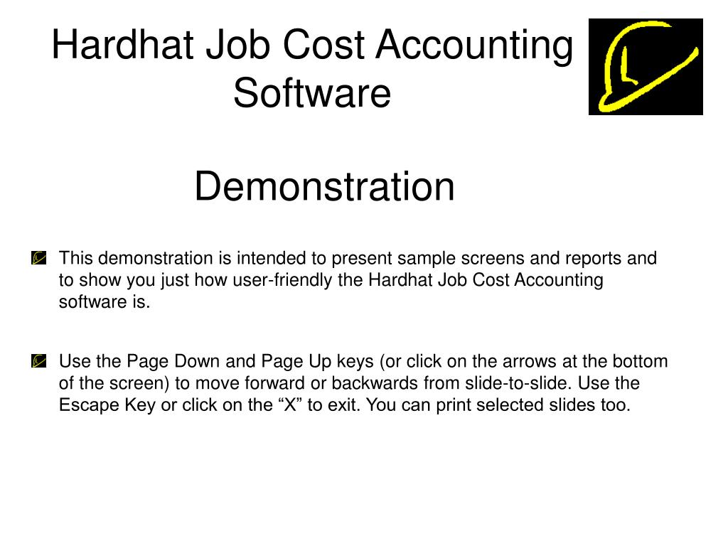 Hardhat Job Cost Accounting Software