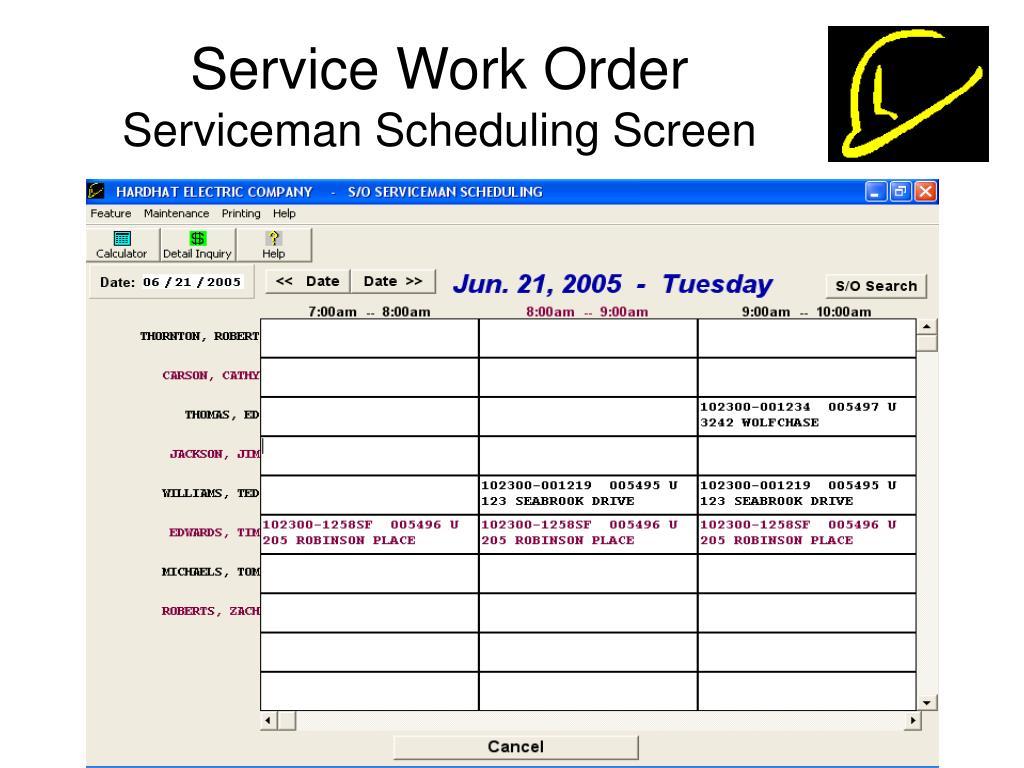 Service Work Order