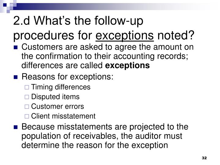 2.d What's the follow-up procedures for