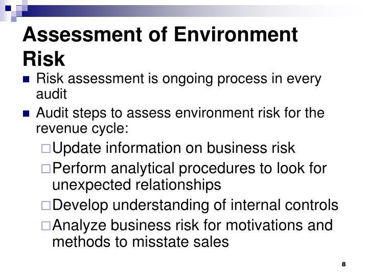 Assessment of Environment Risk
