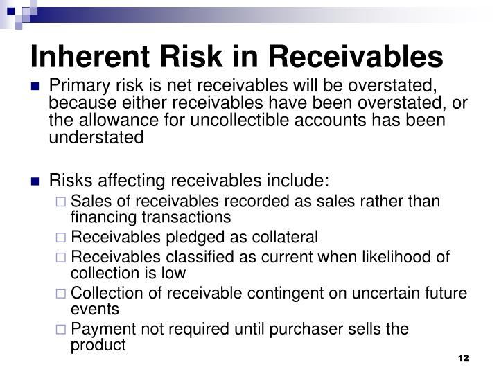 Inherent Risk in Receivables
