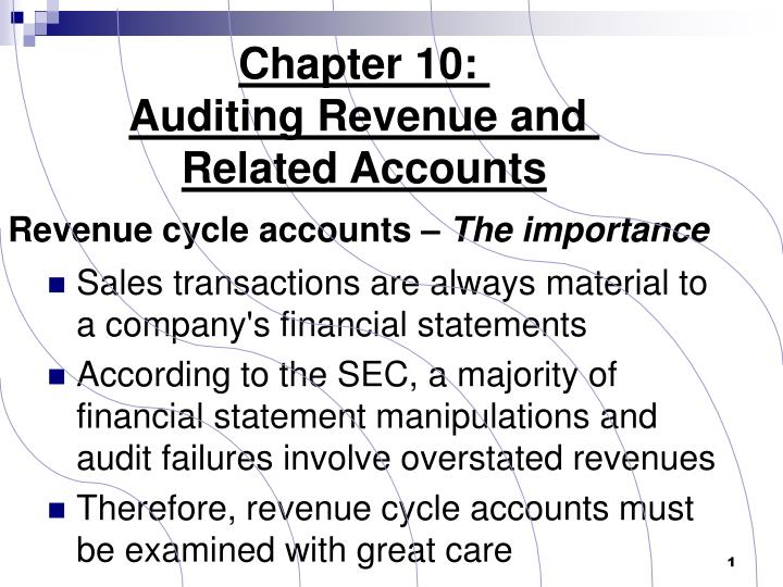 Revenue cycle accounts the importance