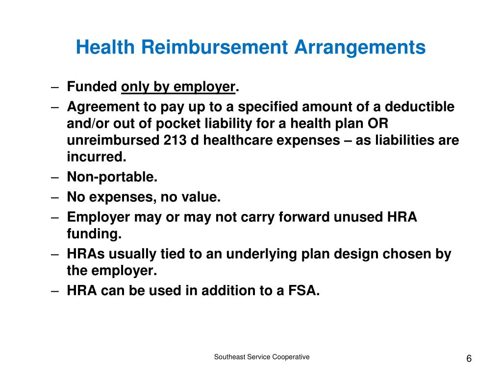 Health Reimbursement Arrangements