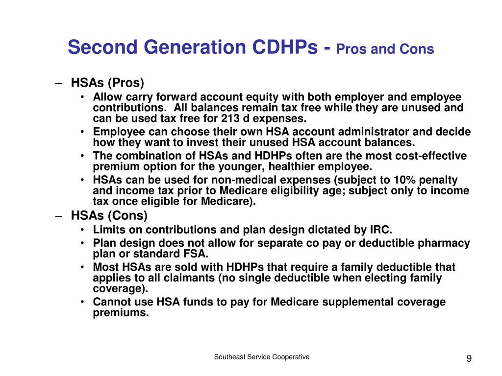 Second Generation CDHPs -
