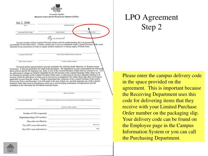 LPO Agreement