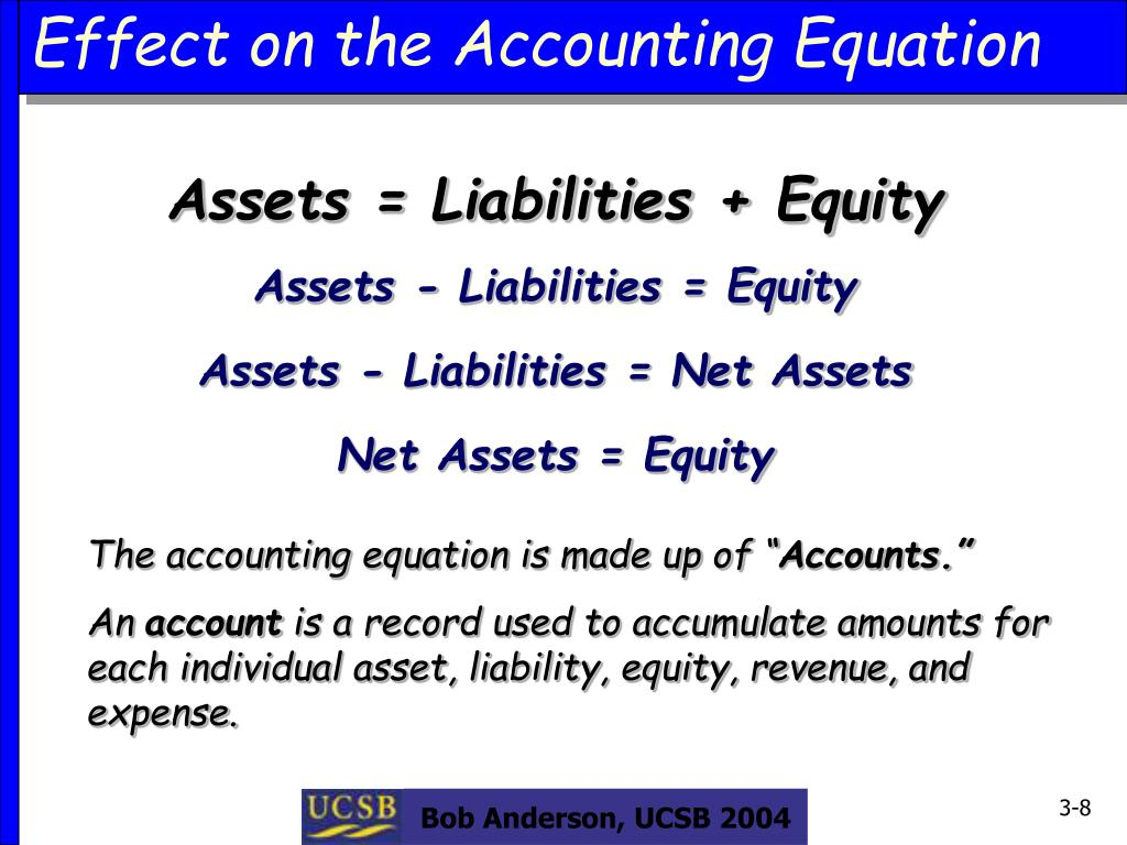Effect on the Accounting Equation