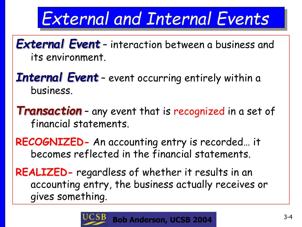 External and Internal Events