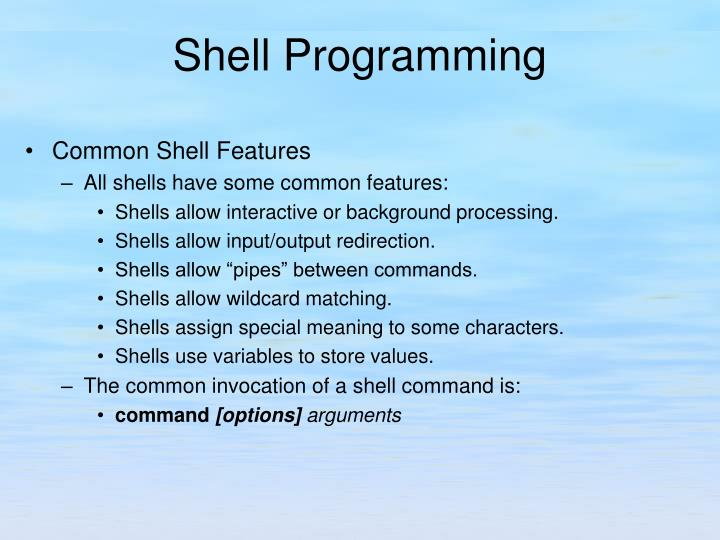Common Shell Features