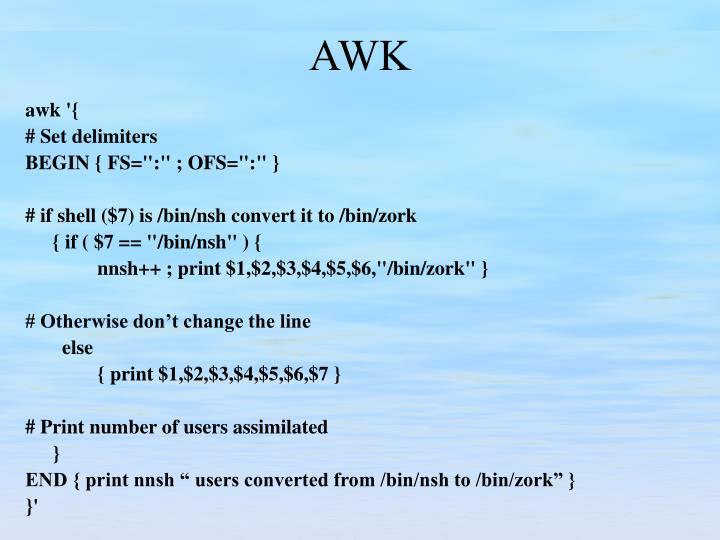 awk '{