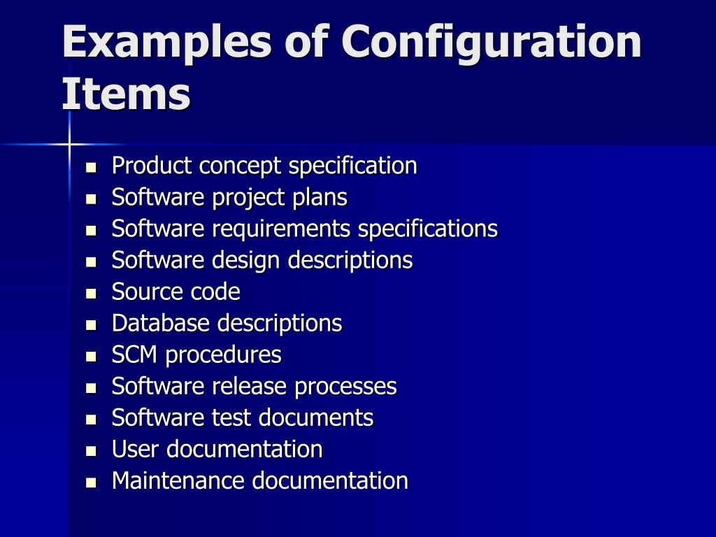 Examples of Configuration Items