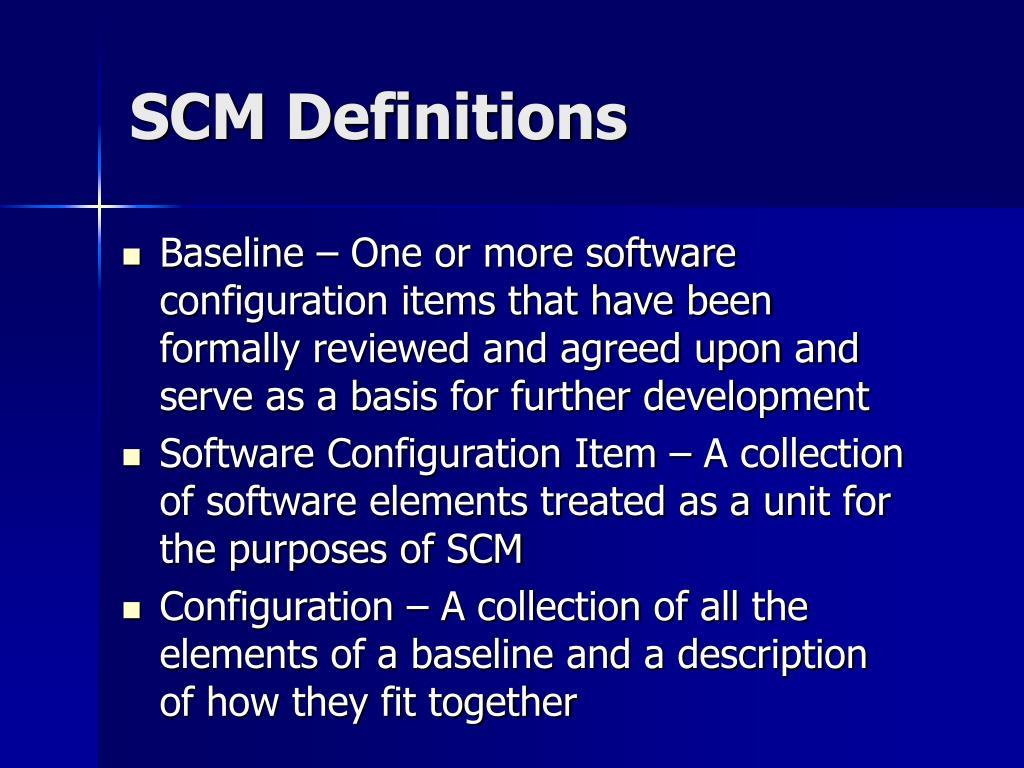 SCM Definitions