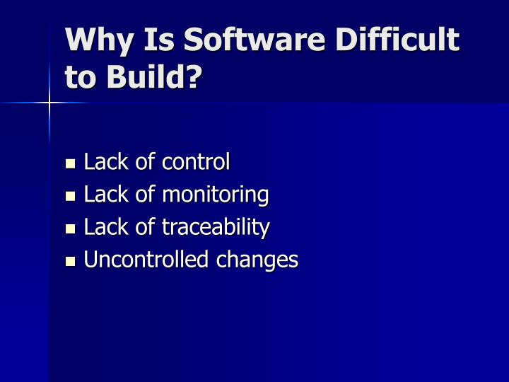 Why is software difficult to build l.jpg
