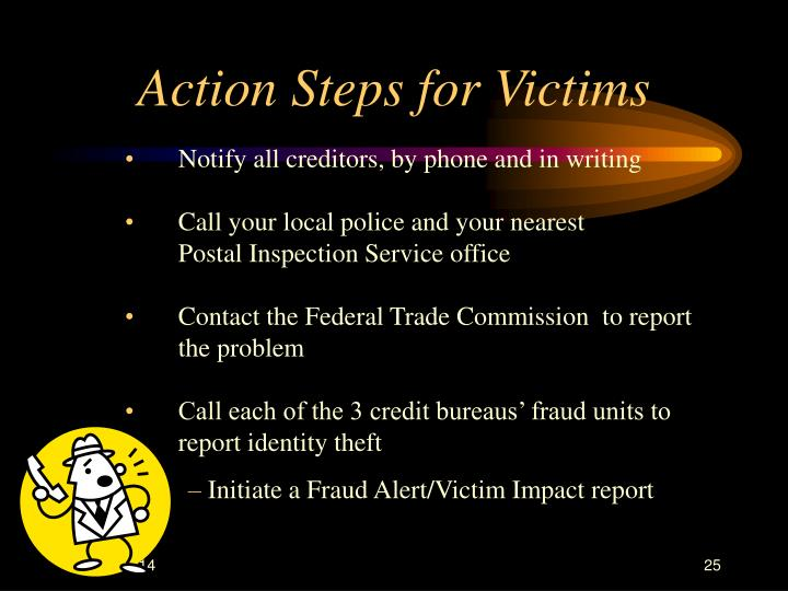 Action Steps for Victims