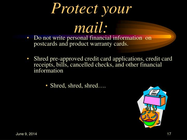 Protect your mail: