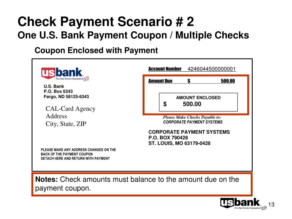 Check Payment Scenario # 2